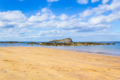 The beach in North Berwick, Scotland Royalty Free Stock Photo