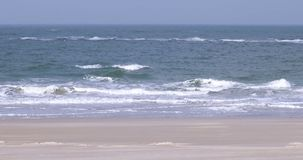 Beach on North Frisian island of Amrum stock video footage