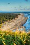Beach at North Head Lighthouse on the Southern Washington Coast Stock Image