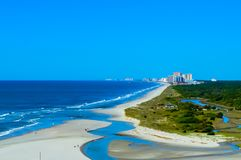 The Beach At North Myrtle. North Myrtle Beach shore line royalty free stock photos