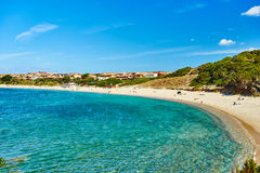Beach in north of Sardinia - Isola Rossa Stock Images