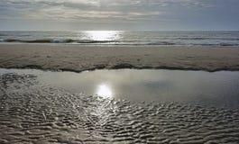 Beach at the North Sea, Denmark Stock Photos