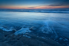 Beach on North sea in dusk Royalty Free Stock Photography