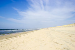 Beach on North Sea, the Netherlands Royalty Free Stock Photos
