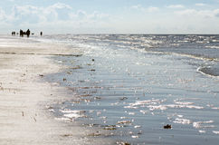 Beach on the North Sea at Sankt Peter-Ording Royalty Free Stock Photography
