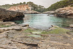 Beach in north shore of Mallorca Royalty Free Stock Photography