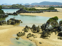 Beach in the north of Spain Stock Photos