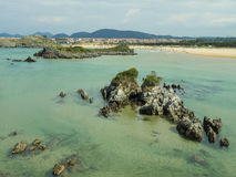 Beach in the north of Spain Stock Photography