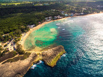Beach in northern coast of Puerto Rico stock images