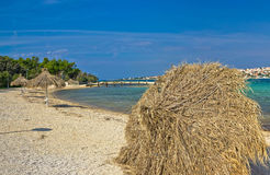 Beach of Novalja, Pag island Royalty Free Stock Images