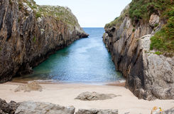Beach of Nueva de Llanes Stock Photo