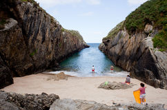Beach of Nueva de Llanes Royalty Free Stock Photography