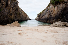 Beach of Nueva de Llanes Stock Photography