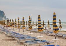 Beach of numana in Conero riviera, Marche, Italy Stock Photo