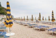Beach of numana in Conero riviera, Marche, Italy Royalty Free Stock Photos