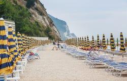 Beach of numana in Conero riviera, Marche, Italy Stock Image