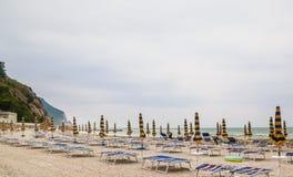 Beach of Numana in Conero riviera, Marche, Italy Stock Images