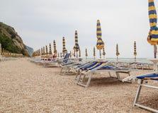 Beach of Numana in Conero riviera, Marche, Italy Stock Photos