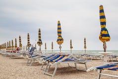 Beach of Numana in Conero riviera, Marche, Italy Royalty Free Stock Photo