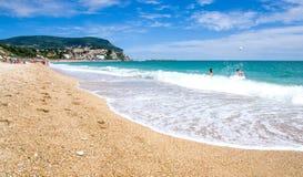 Beach of Numana, Marche region - Ancona - Italy. Stock Photos