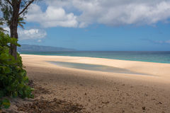 Beach in Oahu. Hawaii. A sand beach in Oahu, Hawaii Stock Photos