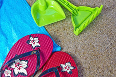 Beach objects Stock Image