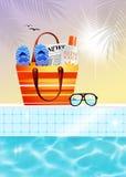Beach objects Stock Photo