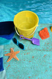 Beach Objects Near Water Stock Image