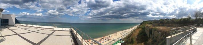 Beach at Obzor panorama, Bulgaria Stock Photography