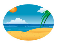 Beach ocean background Stock Images