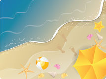 Ocean beach banner Stock Images