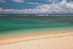 Beach on ocean coast. Lagoon Hermitage, Reunion Royalty Free Stock Photography