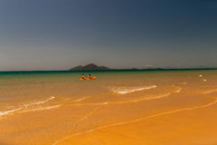 Beach Ocean Kayak Couple Royalty Free Stock Photography