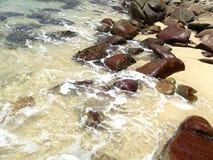 Beach. Ocean mexico rocks waves Stock Photo