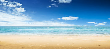 Beach and ocean. Panoramic shot Royalty Free Stock Photography
