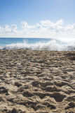 Beach and ocean. The playa del carmen beach and the front water Stock Photography