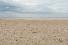 Beach ocean relax sand summer sunlight cloud beauty Royalty Free Stock Photos