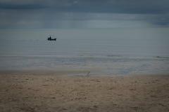 Beach ocean relax sand summer sunlight cloud beauty Royalty Free Stock Photography