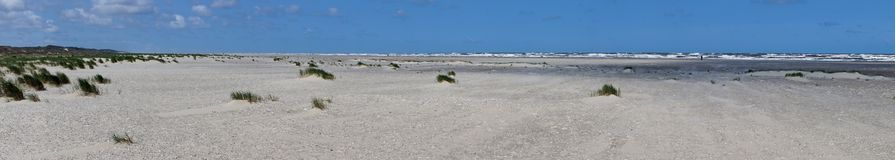 Beach, ocean and sky as a panorama royalty free stock photography