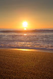 Beach, Ocean and sunset in Biarritz Stock Photos