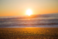 Beach, Ocean and sunset in Biarritz Royalty Free Stock Photo