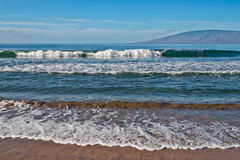 Beach, ocean, and waves Royalty Free Stock Photo