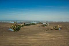 Beach, Ocean, Wreck, Coast Stock Photo