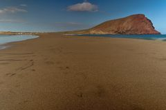 Free Beach Of La Tejita With Roja Mountain (Red Mountain) Stock Images - 49587954
