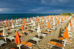 Free Beach Of Torre Canne On Puglia, Italy Royalty Free Stock Photo - 74008655
