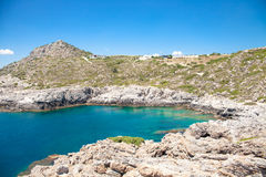 Beach off the coast of the island of Rhodes in Greece. Stock Photo