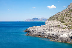 Beach off the coast of the island of Rhodes in Greece. Stock Photography