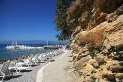 Beach in Ohrid Royalty Free Stock Photo