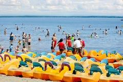 The beach of Oka. Royalty Free Stock Photo