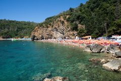 Beach of old town of Budva, Montenegro Royalty Free Stock Photography